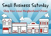 stock photo of local shop  - Small Business Saturday encourages shopping at small and local - JPG