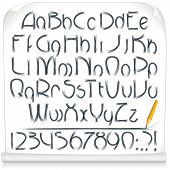 Pencil Drawing Sloppy Font. Vector Alphabet
