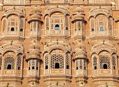 Windows der Hawa Mahal, Jaipur, Indien