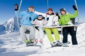 stock photo of ropeway  - Skiing - JPG