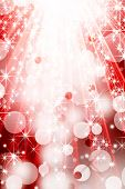 Holiday background with lights and stars