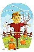 Espantalho para colheita de outono