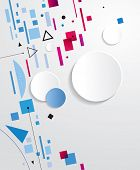 Abstract geometric background. Raster version of vector illustration