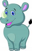 Cute baby rhino cartoon