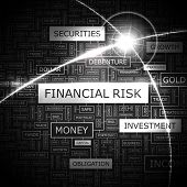 FINANCIAL RISK. Word cloud concept illustration.