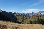 Mountain world in autumn