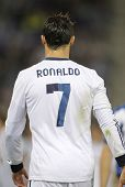 BARCELONA - MAY, 11: Cristiano Ronaldo of Real Madrid back during the Spanish League match between E