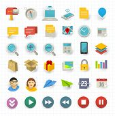 pic of time-saving  - Vector flat design communication and business icon set - JPG