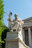 stock photo of socrates  - Neoclassical statues of Socrates  - JPG