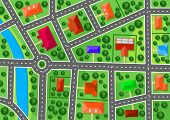 foto of building relief  - Map of suburb for real estate or navigation design - JPG