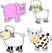 Cute Farm Animals Set poster