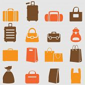 Bag icons set. Vector
