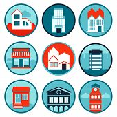 Vector Set With Real Estate Logos And Emblems