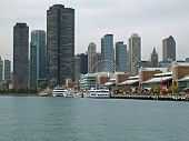 Chicago Navy Pier And Skyline
