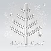 Christmas Fur Tree Minimalistic Postcard