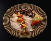 Baked Tilapia White Fish With Fruit Salsa