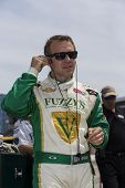 Fort Worth, TX - Jun 07, 2013:  Ed Carpenter (20) takes to the track for a practice session for the