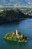 St. Mary�?�´s Church of the Assumptionon, Bled Lake, Slovenia