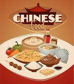 picture of chinese restaurant  - Chinese food - JPG