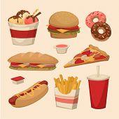 Fast food. Objects set