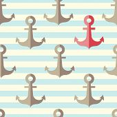 Anchor In A Seamless Pattern