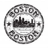 Boston grunge rubber stamp