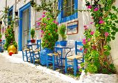traditional Greece series - street tavernas