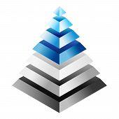 Environmental Impact Rating - Three-dimensional Pyramid. Eps10