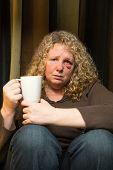 Sad Woman With Black Eye