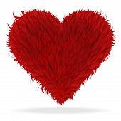 Valentine Furry Heart poster