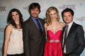 Dorian Brown, Jason Gann, Fiona Gubelmann, Elijah Wood at the 2011 FOX Winter All-Star Party, Villa Sorriso, Pasadena, CA. 01-11-11