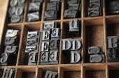 Lead Letterpress Type