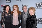Valerie Bertinelli, Amy Yasbeck, Pat Harrington Jr., Bonnie Franklin at the