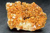 Spessartine Garnets In Cluster