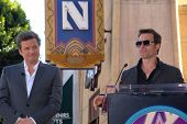 Colin Firth and Guy Pearce at the indiction ceremony for Colin Firth into the Hollywood Walk of Fame