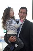 Sadie Sandler and Adam Sandler at Adam Sandler's Star on the Hollywood Walk of Fame ceremony, Hollyw