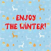 Enjoy winter funny background design