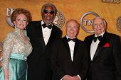 Tova Borgnine and Morgan Freeman, Tim Conway and Ernest Borgnine at the 17th Annual Screen Actors Gu