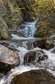 Mountain River Among The Rocks
