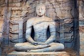 pic of polonnaruwa  - Statue of meditating Buddha in Polonnaruwa Sri Lanka