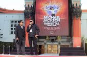 Jackie Jackson, Tito Jackson at Michael Jackson Immortalized at Grauman's Chinese Theatre, Hollywood