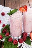 Raspberry And Strawberry Milkshake