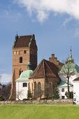 Sights Of Poland - Warsaw Old Town With Gothic Church.