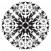 Black And White Ottoman Serial Patterns