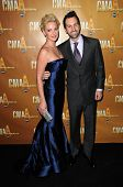 Katherine Heigl and Josh Kelly at the 44th Annual CMA Awards, Bridgestone Arena, Nashville, TN.  11-10-10