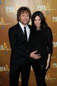 Dierks Bentley and Cassidy Black at the 44th Annual CMA Awards, Bridgestone Arena, Nashville, TN.  11-10-10
