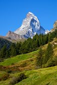 Matterhorn (4478M) In The Pennine Alps From Zermatt, Switzerland.