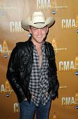 Justin Moore  at the 44th Annual CMA Awards, Bridgestone Arena, Nashville, TN.  11-10-10