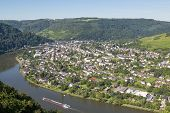 stock photo of moselle  - Aerial view of Traben - JPG