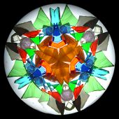 inner picture of kaleidoscope